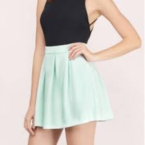 Mint Pleated Skater Skirt